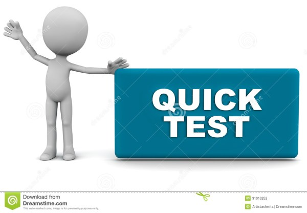 Quick test stock illustration. Illustration of quick ...