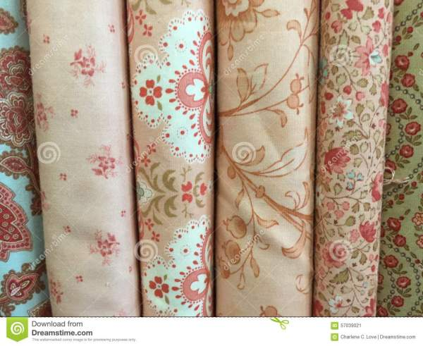 Quilt Fabric Background Stock Photo - Image: 57039021