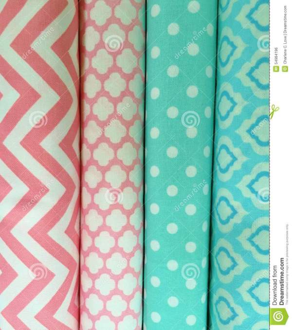 Quilt Fabric Background Stock Photo - Image: 54984196