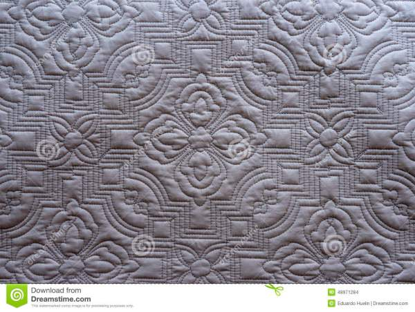 Quilt Fabric Texture Background Stock Photo - Image of ...