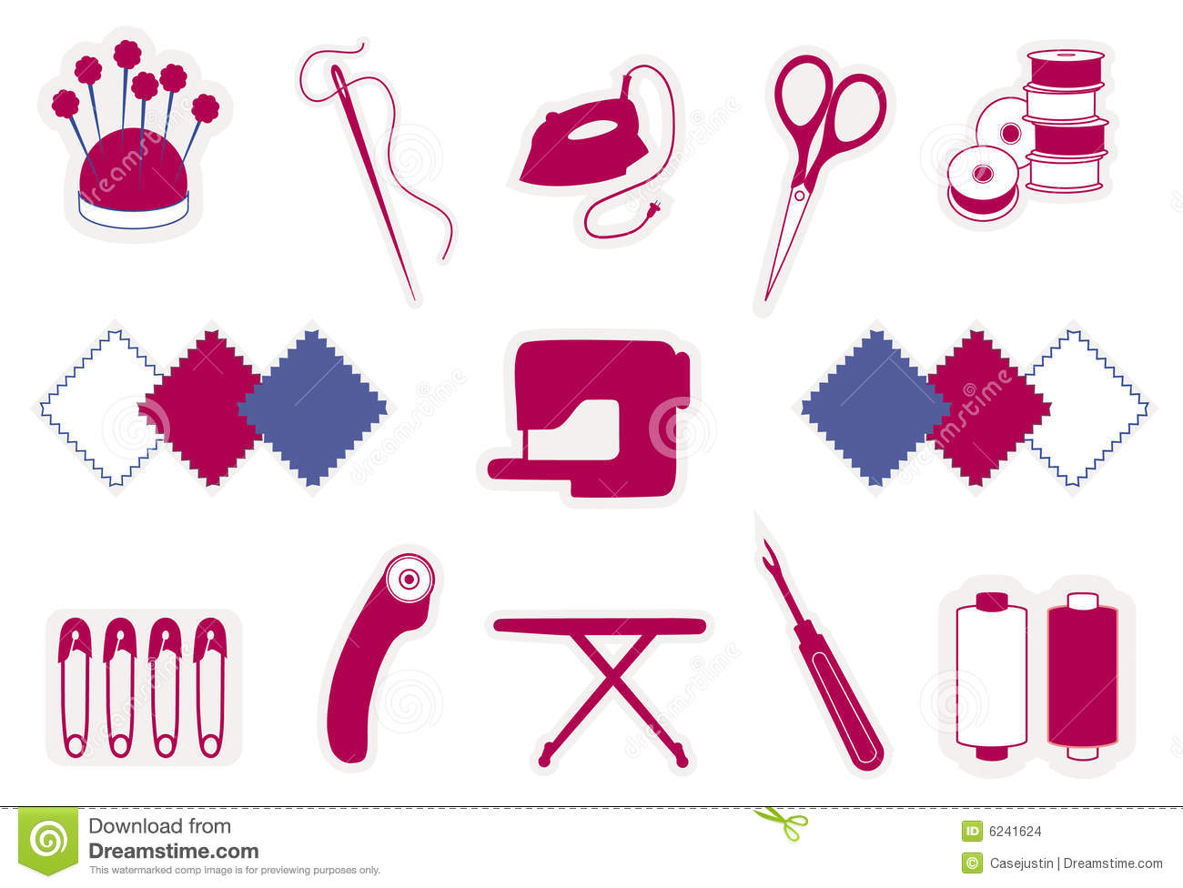 Quilting Amp Patchwork Icons Stock Images Image 6241624