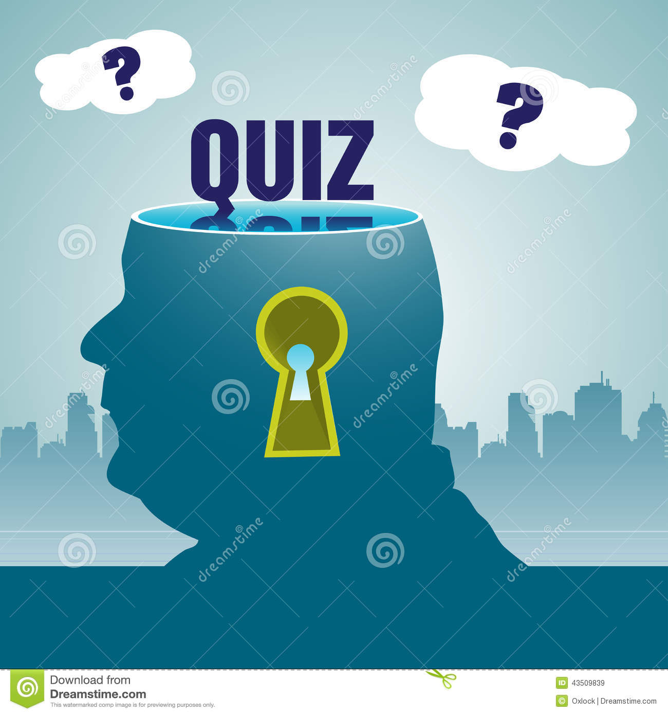 Quiz Theme Stock Vector