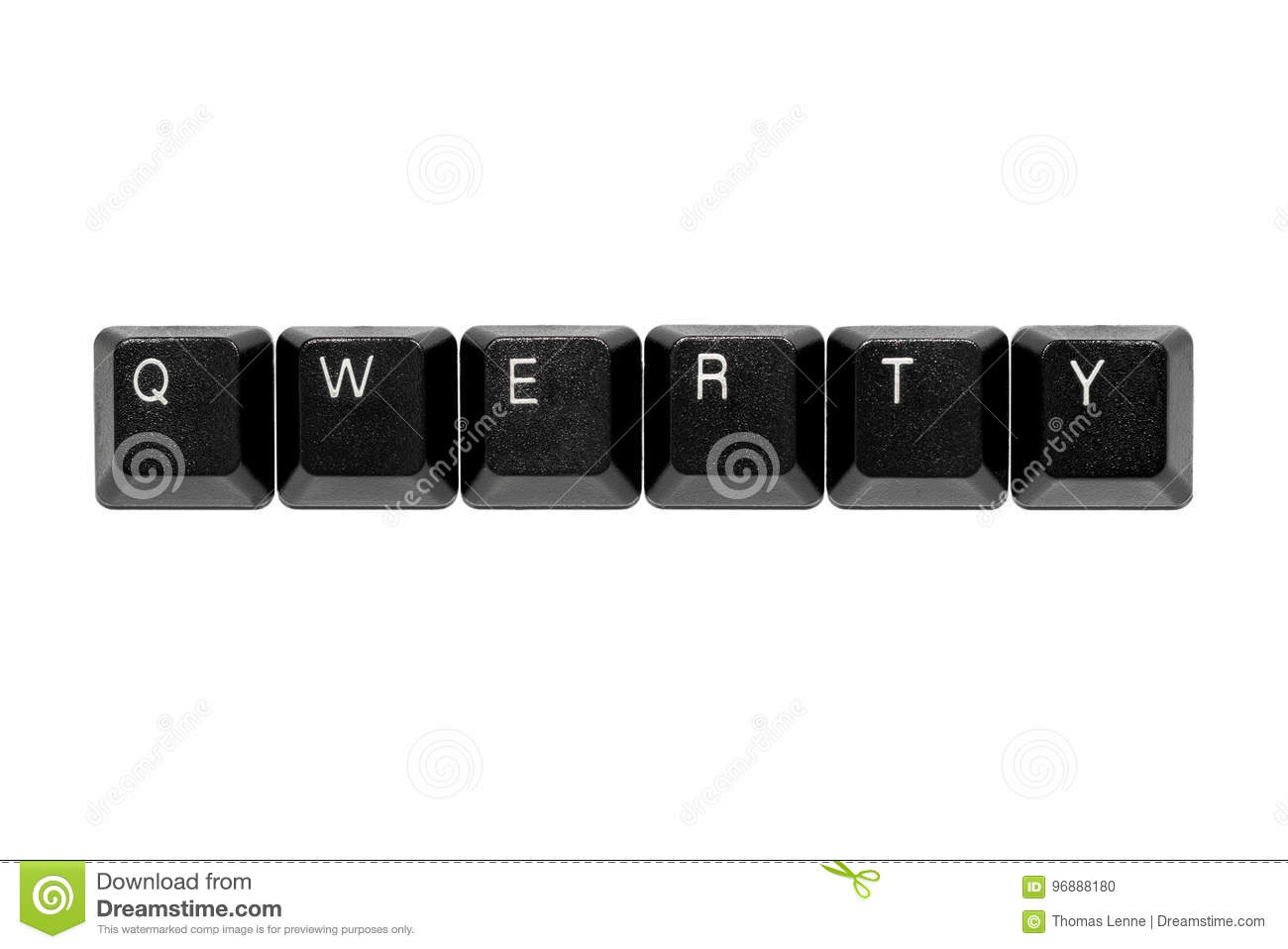 Qwerty Keyboard Keys Stock Photo Image Of Azerty Buttons
