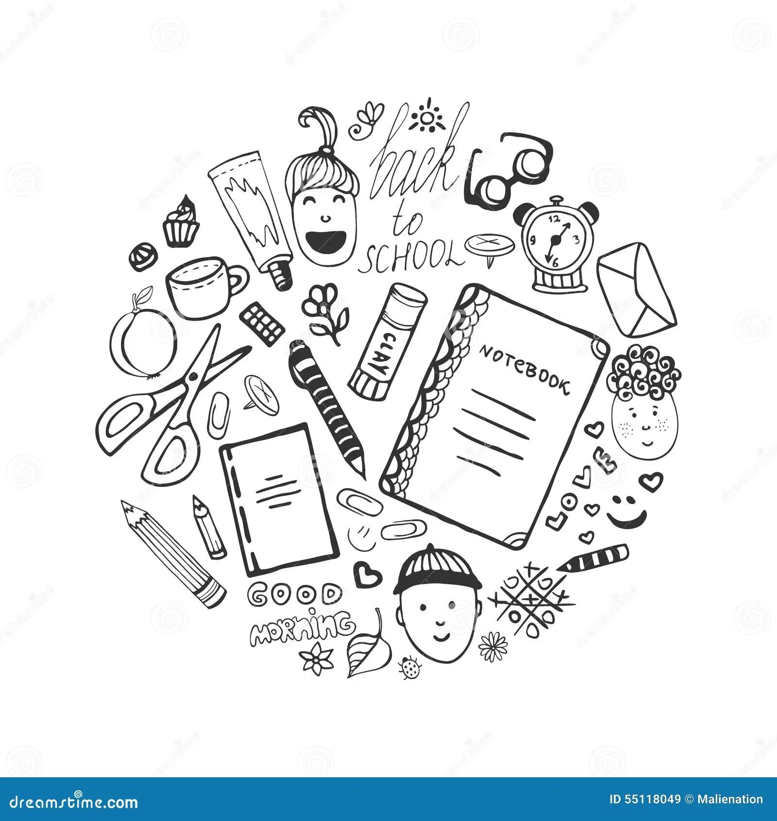 Racka Den Utdragna Samlingen Med Skolabrevpapper Och