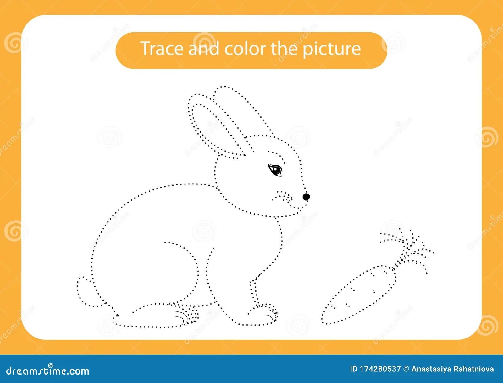 Rabbit And Carrot Animals Theme Handwriting Practice