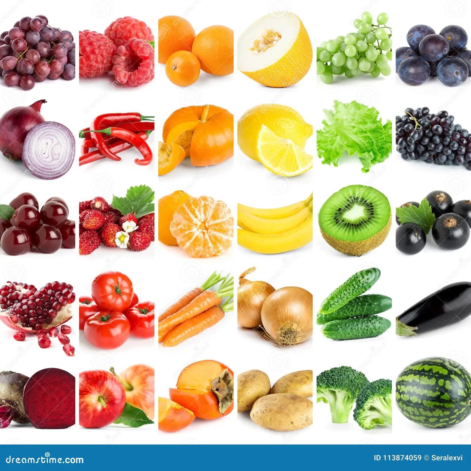 Raccolta Della Frutta E Delle Verdure Di Colore Immagine