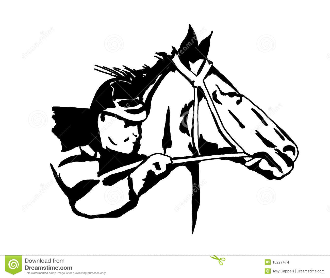 Race Horse Stock Illustration Image Of Horse Competition
