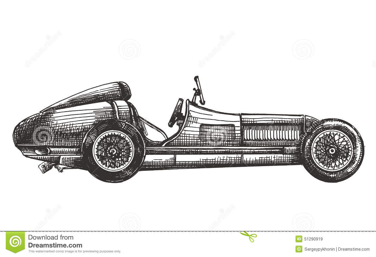 Racing Car Vector Logo Design Template Transport Stock