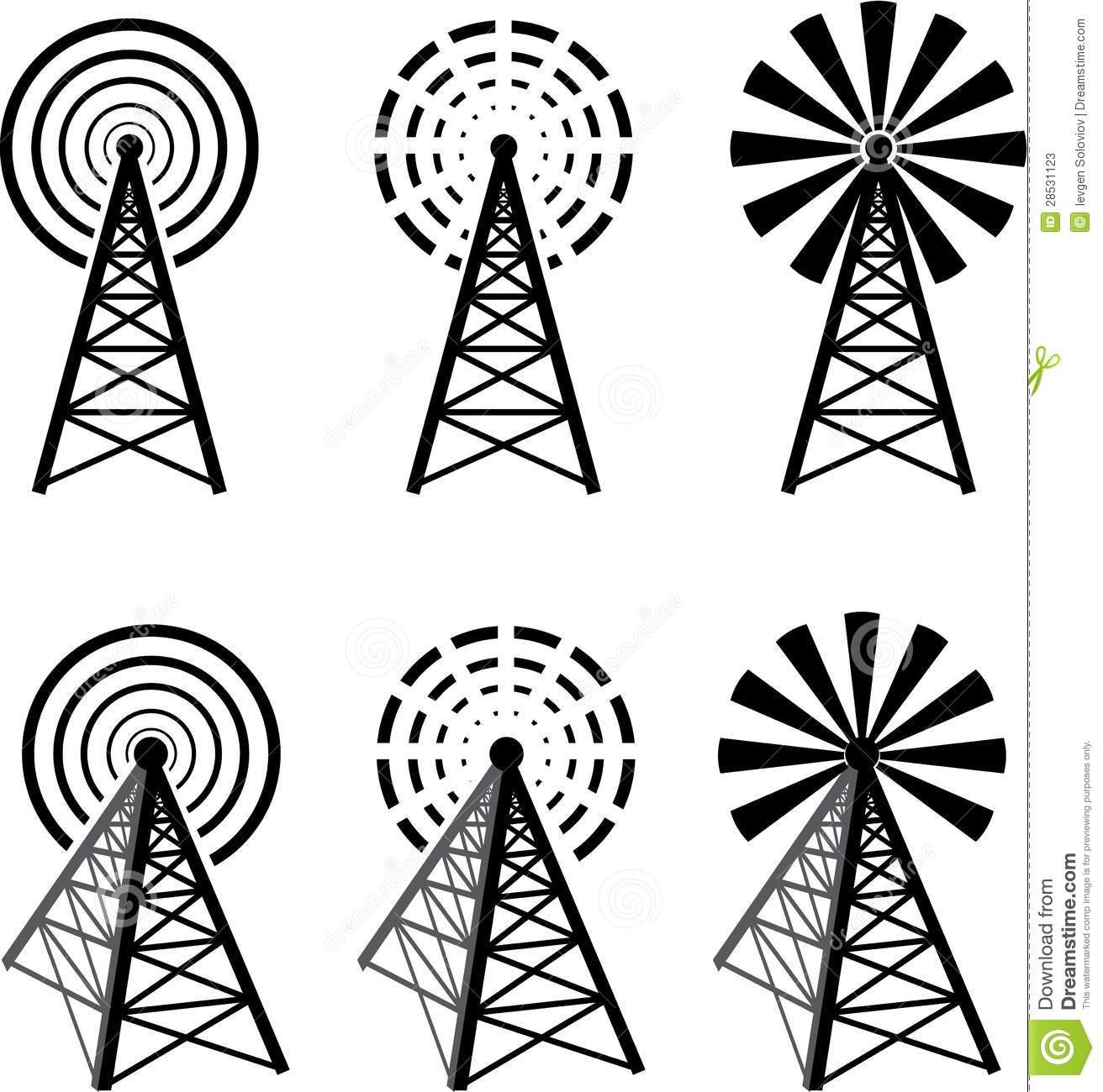 Radio Tower Stock Vector Illustration Of Communication