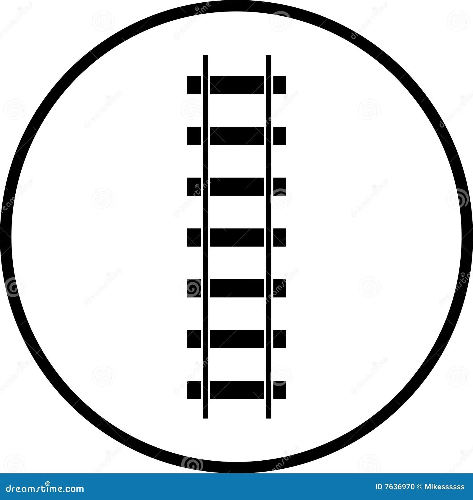 Railroad Vector Symbol Stock Vector Illustration Of