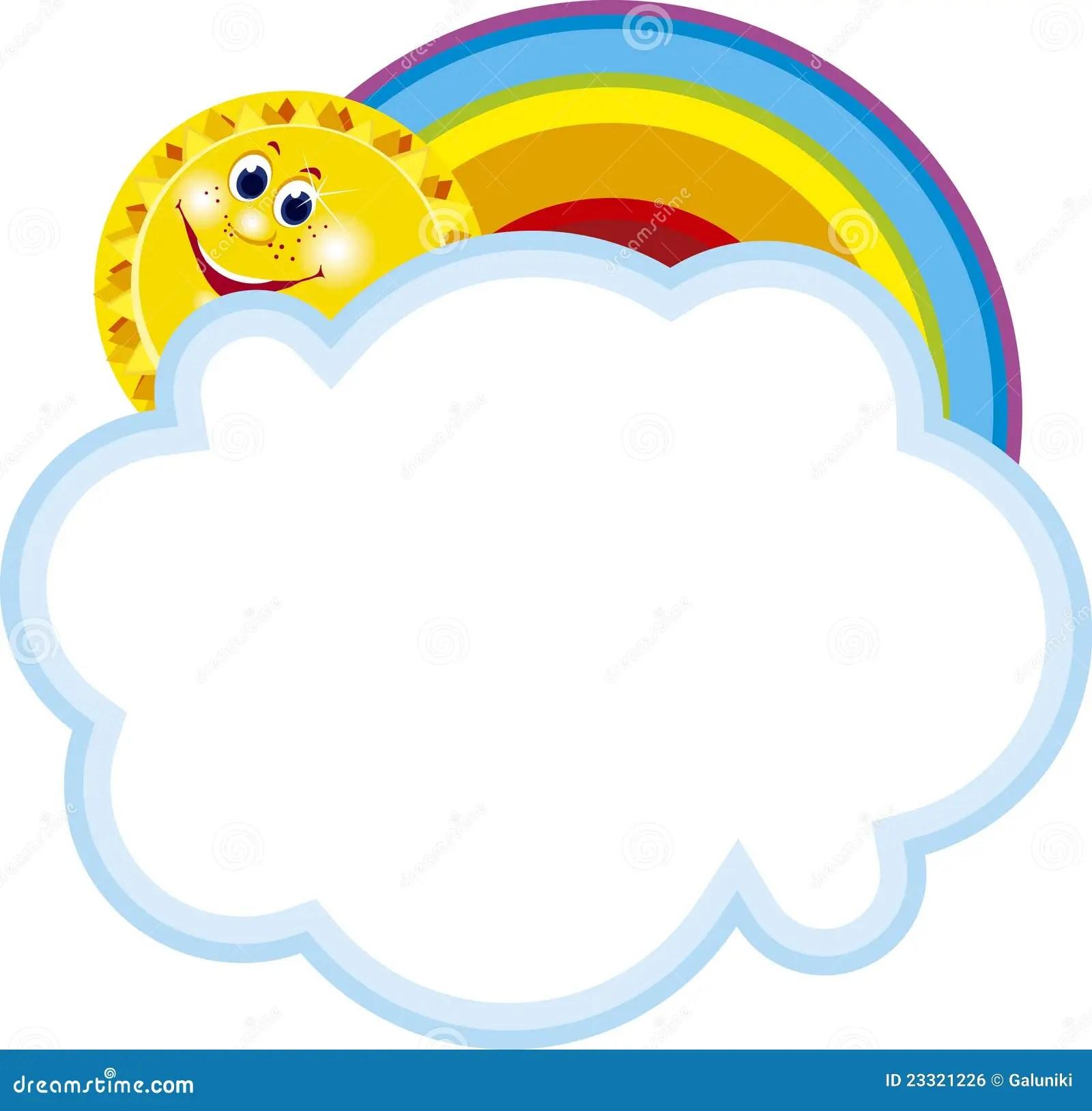 And Sun Clip Art Rainbow