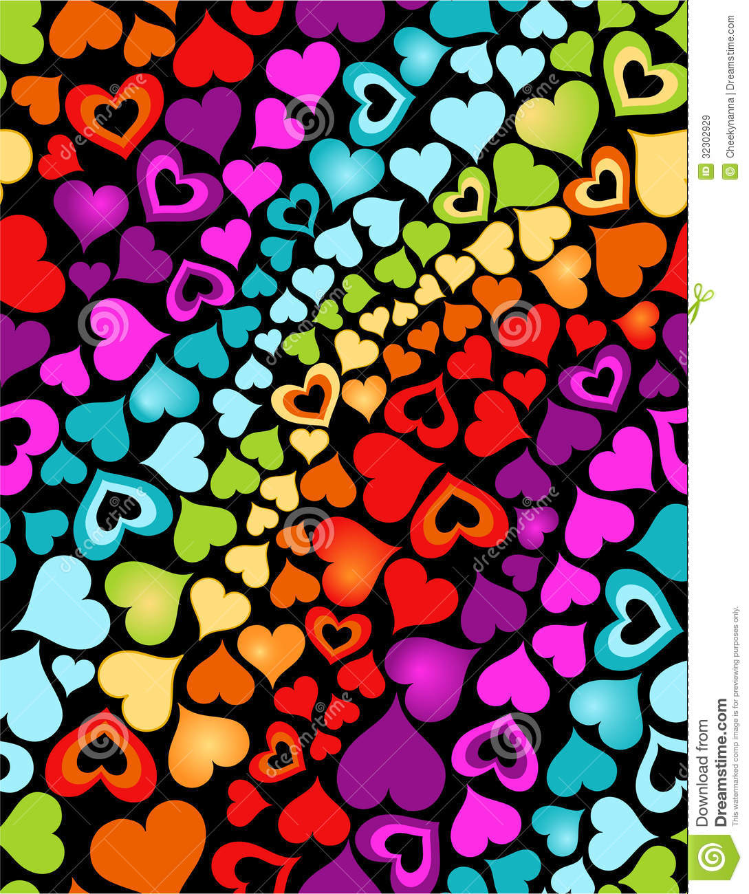 Rainbow Hearts Royalty Free Stock Images Image 32302929