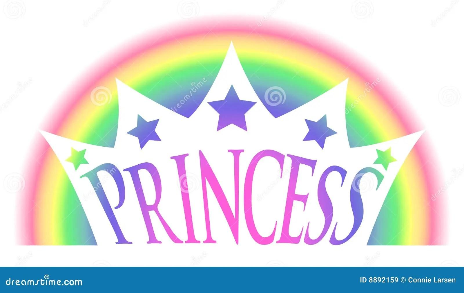 Rainbow Princess Crown Royalty Free Stock Images Image