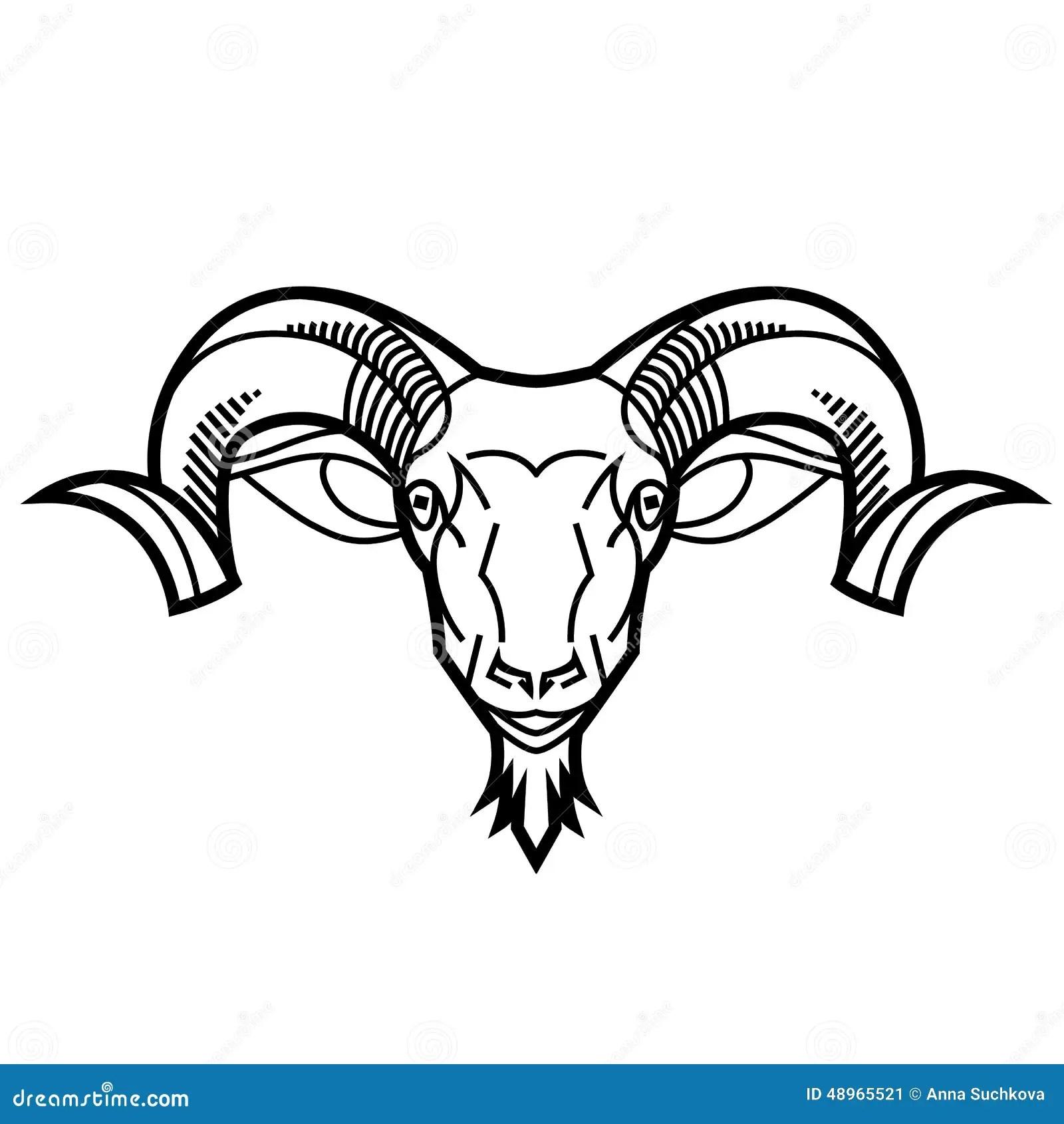 Ram Head Stock Vector Illustration Of Sheep Symbol
