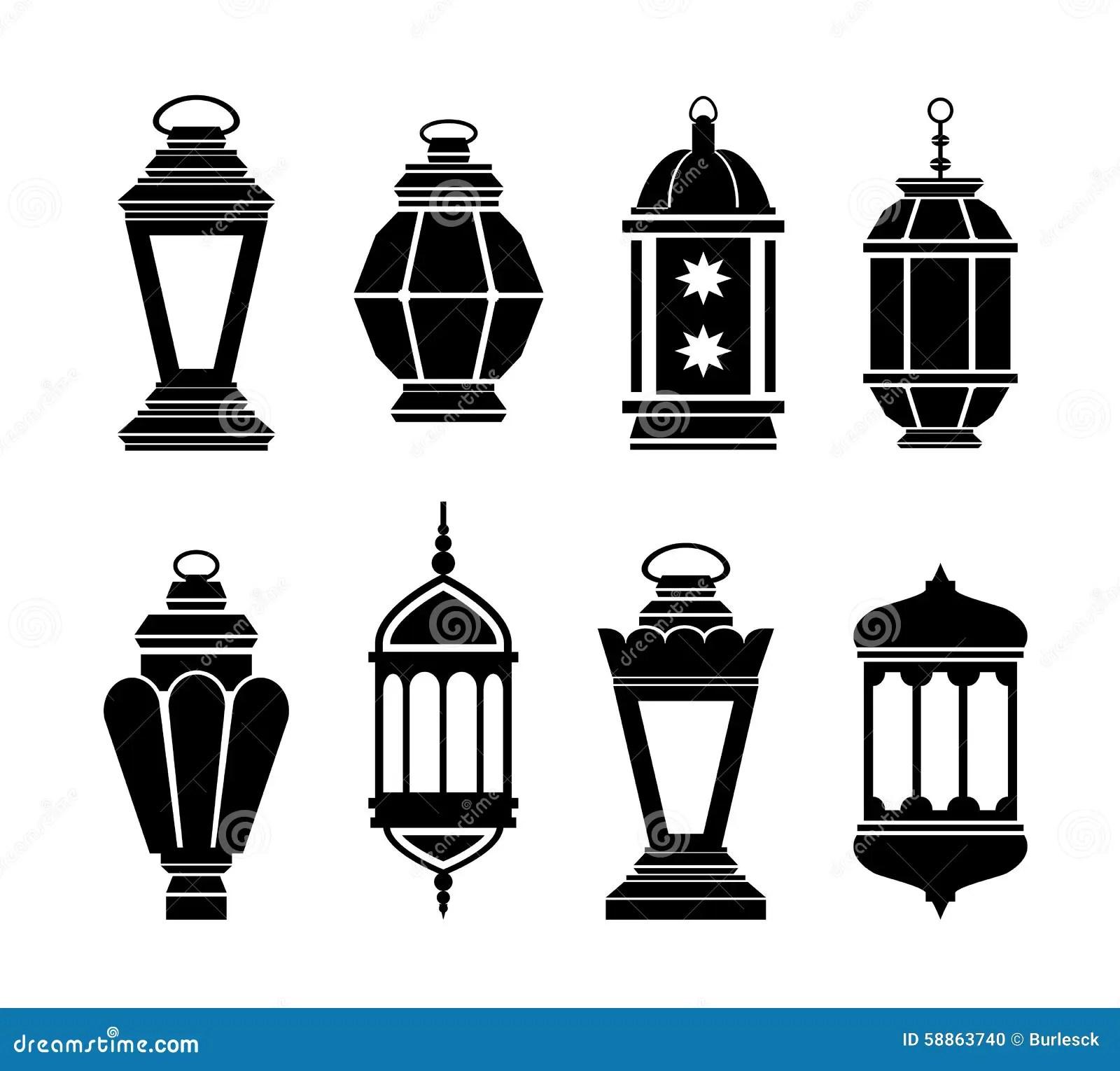 Ramadan Arabic Lanterns Stock Vector Illustration Of