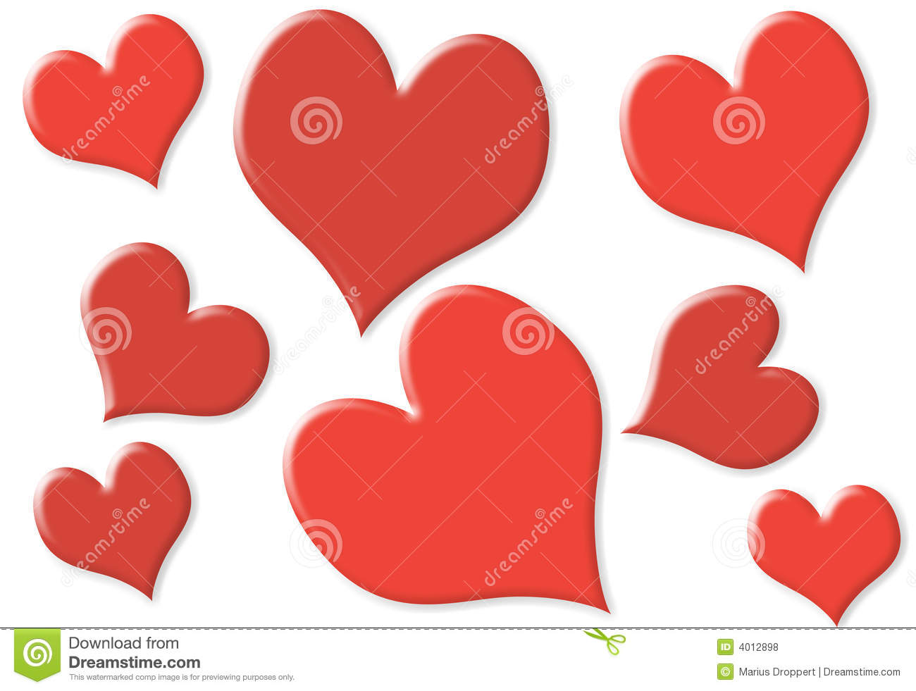 Random Small And Big Hearts With 2 Colors Royalty Free