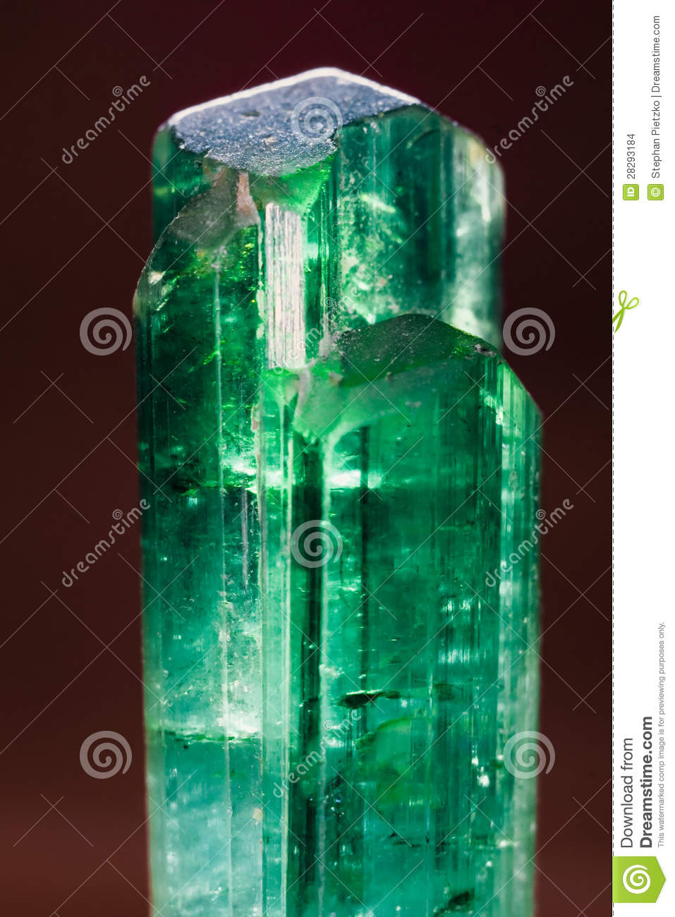 Rare Uncut Green Turmaline Gemstone From Pakistan Stock