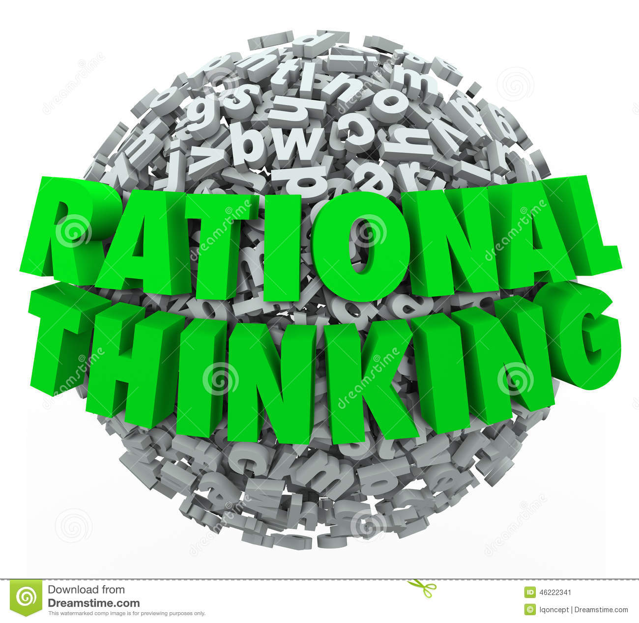 Rational Thinking 3d Words Reasonable Sensible Thought