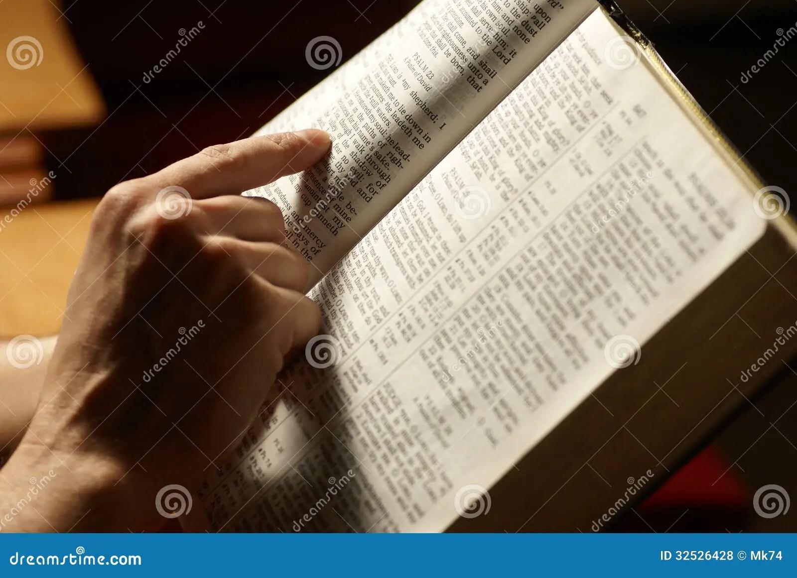 Reading Bible Stock Photo Image Of Horizontal