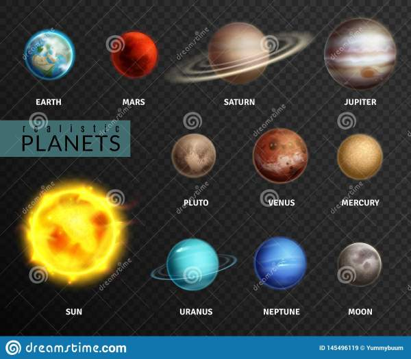 Realistic Planets. Solar System Planet Space Universe ...