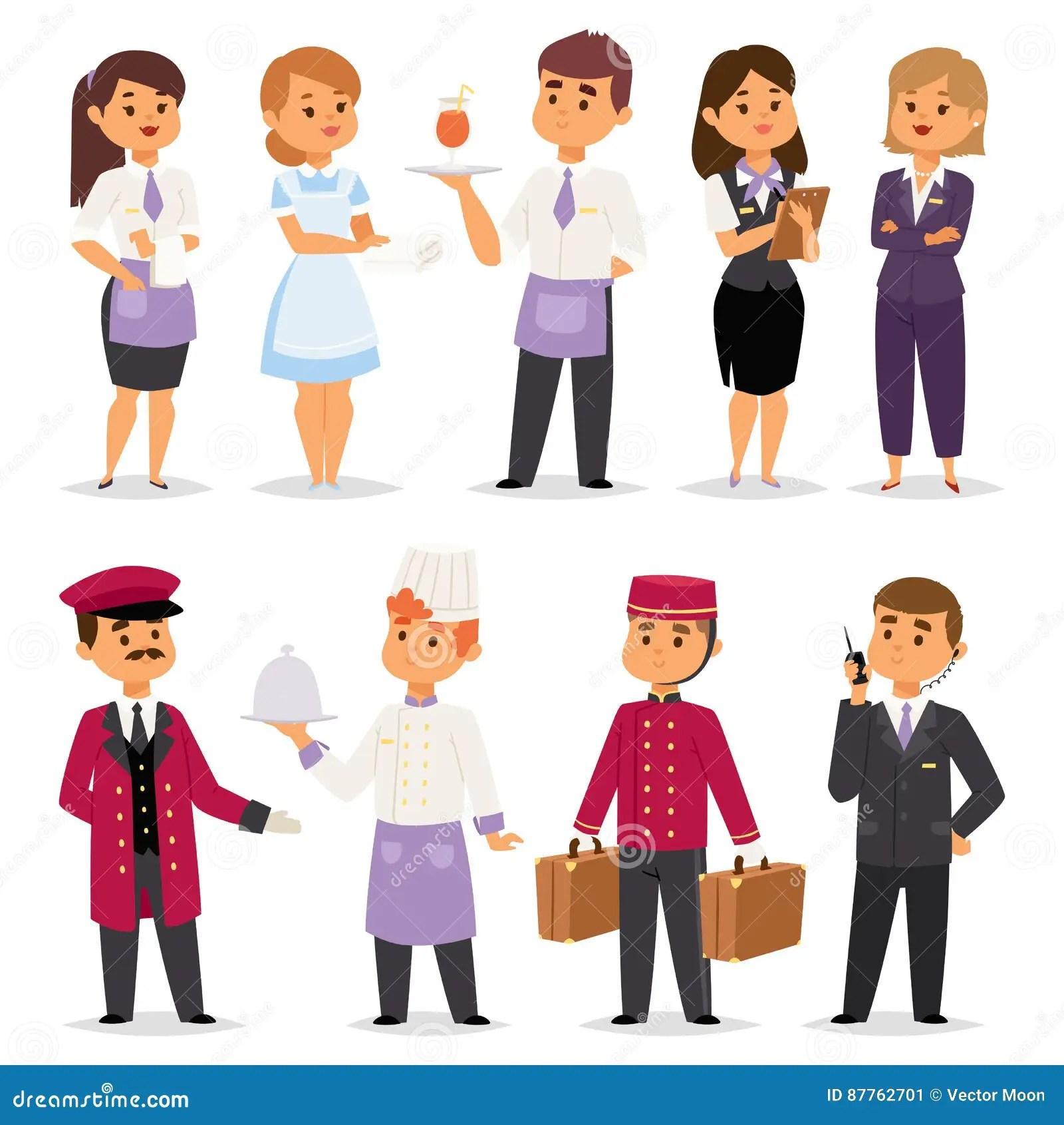 Recepcionista Feliz De Los Trabajadores De La Gente De Las
