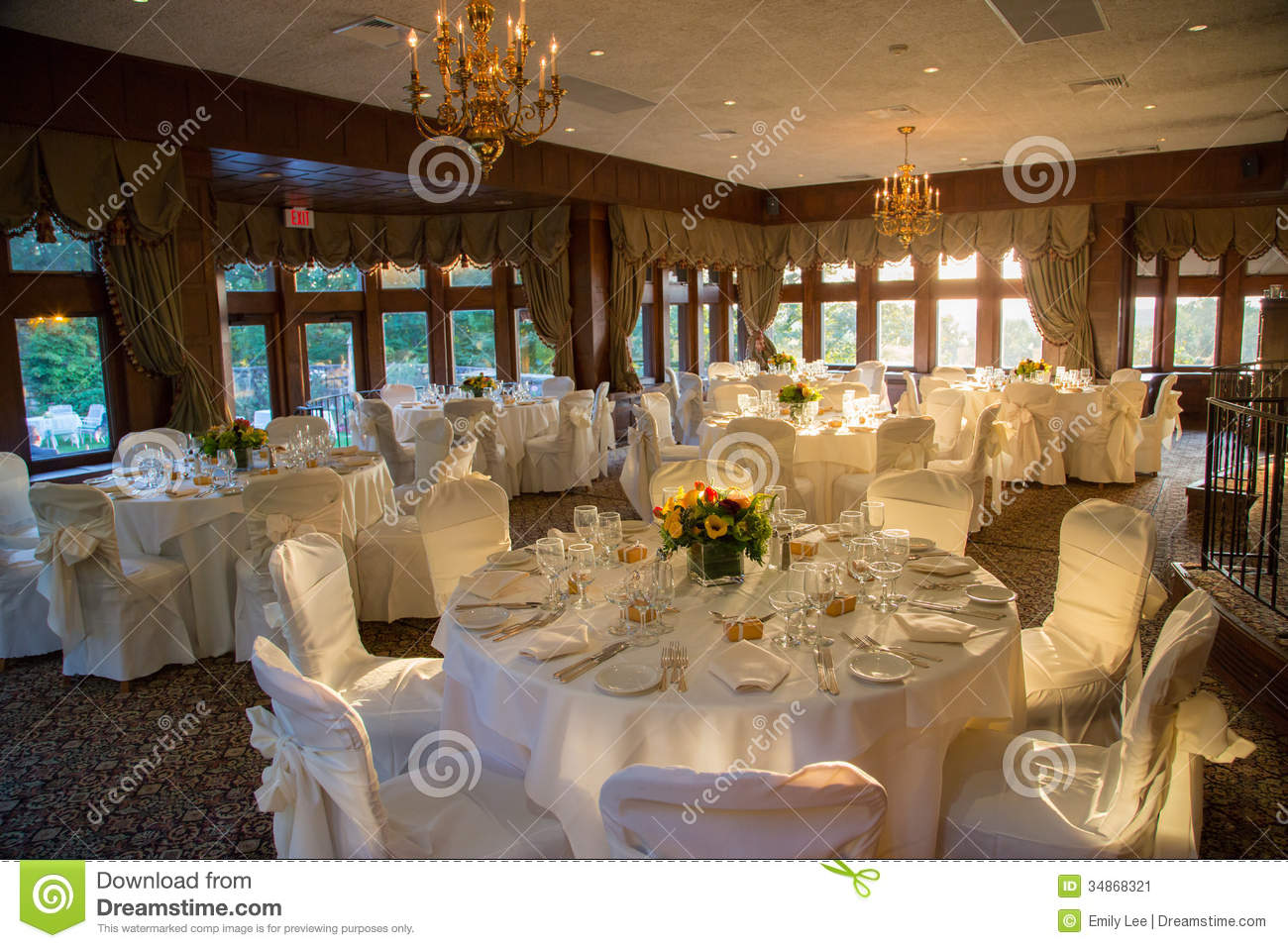 Reception Hall Ready Stock Image Image Of Detail Dramatic 34868321