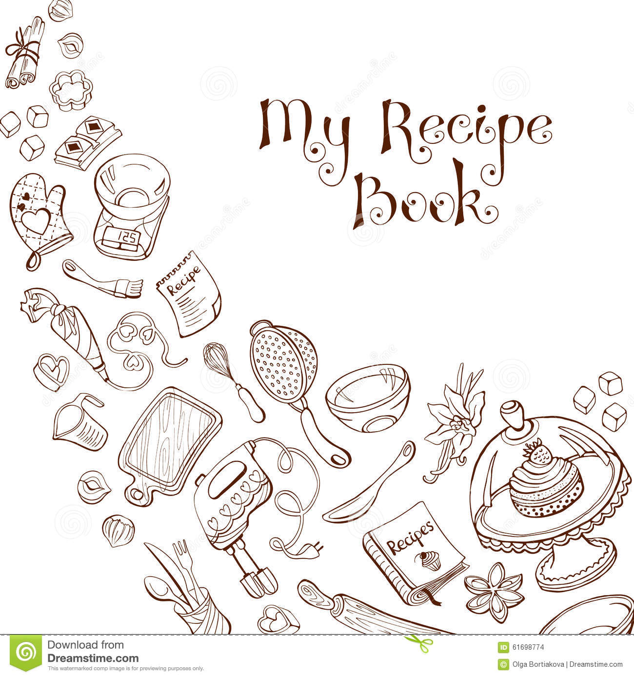 Recipe Book Template Stock Vector Image Of Background