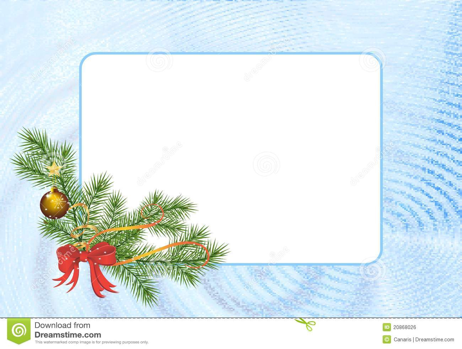 Rectangular Christmas Frame Cdr Vector Stock Vector