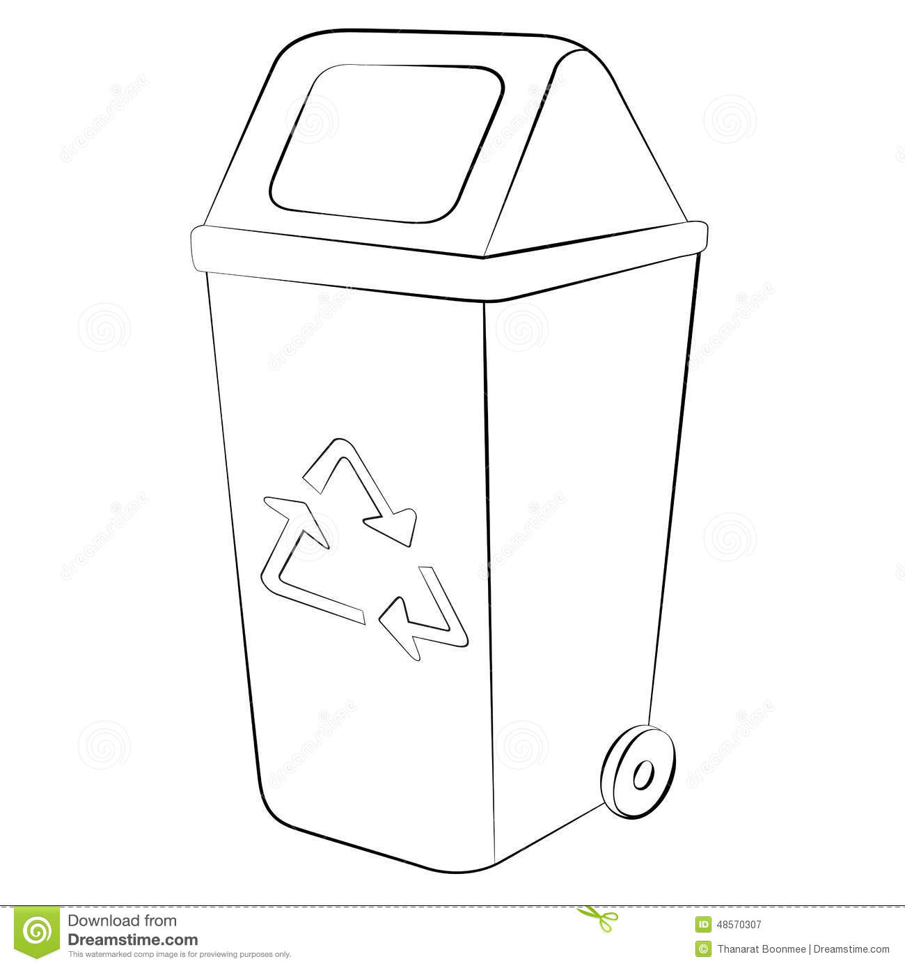Recycle Bin Stock Vector Illustration Of Clean Simple