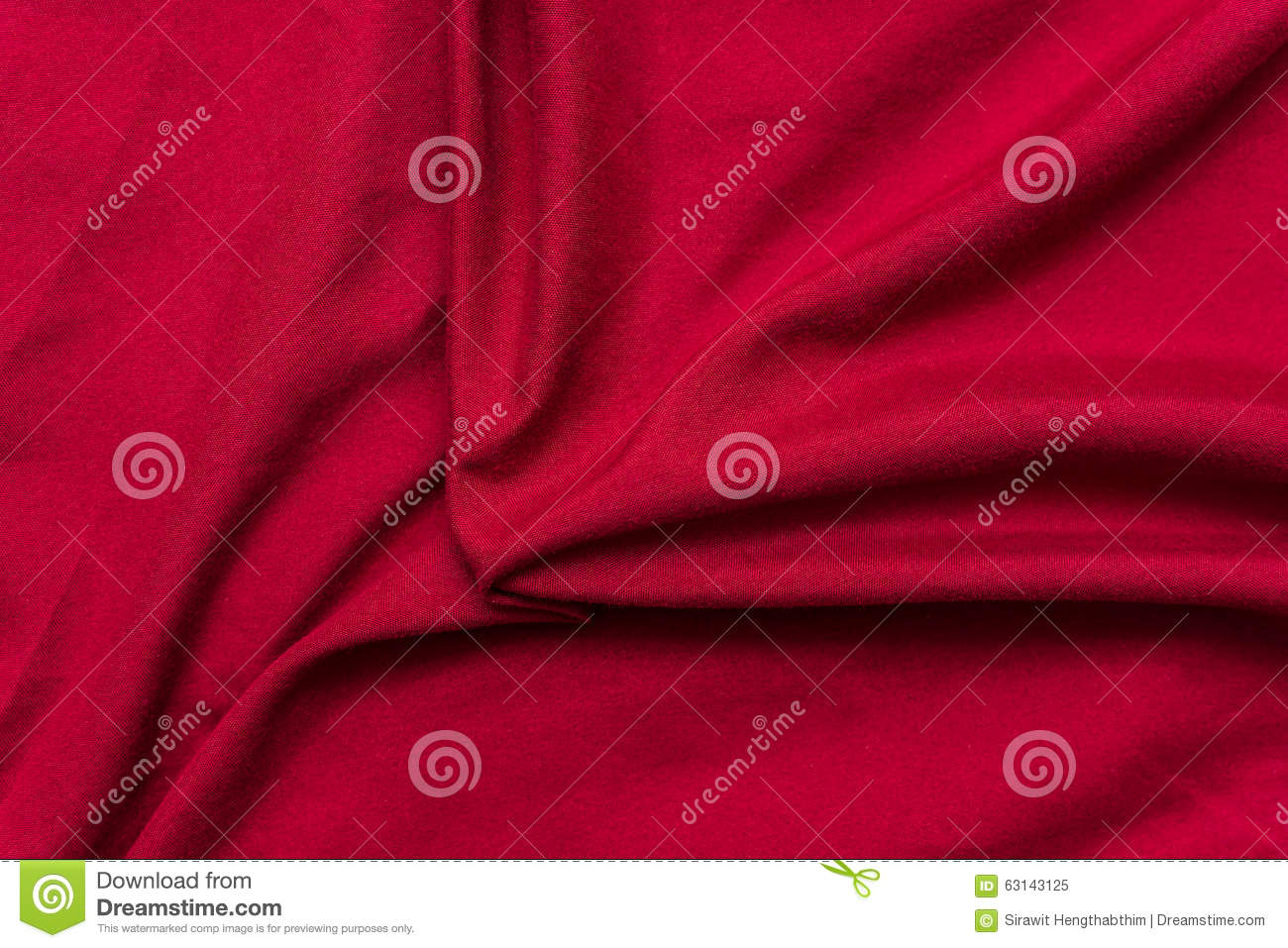 Red Bed Sheets Background Texture Stock Photo Image
