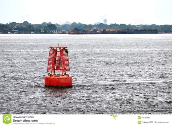 Red Channel Marker Buoy stock photo. Image of islands ...