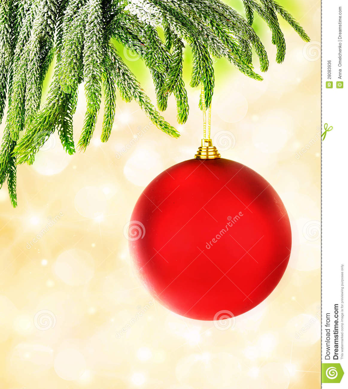 Red Christmas Bubble Royalty Free Stock Image Image