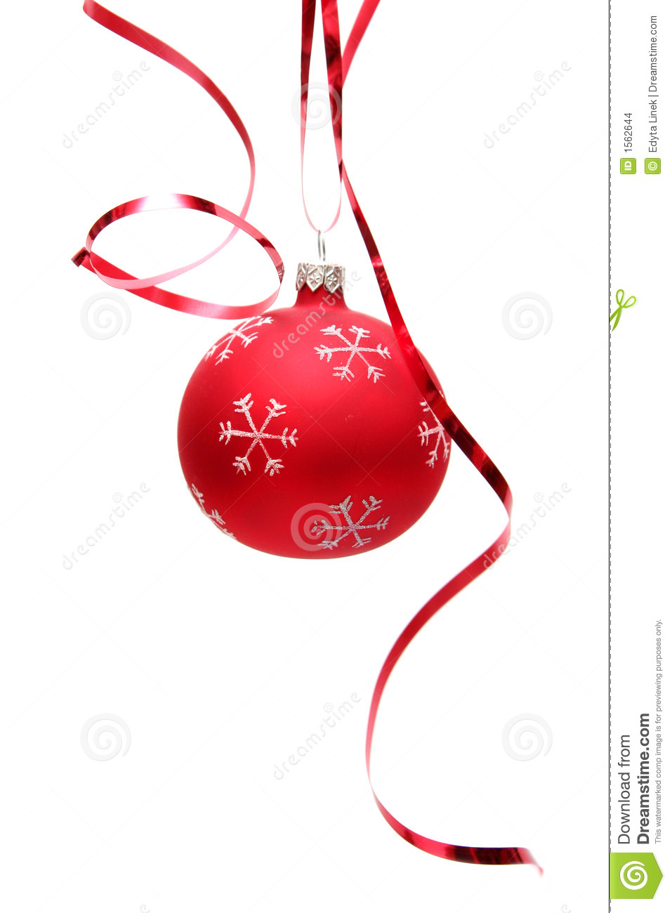 Red Christmas Bulb Stock Images Image 1562644