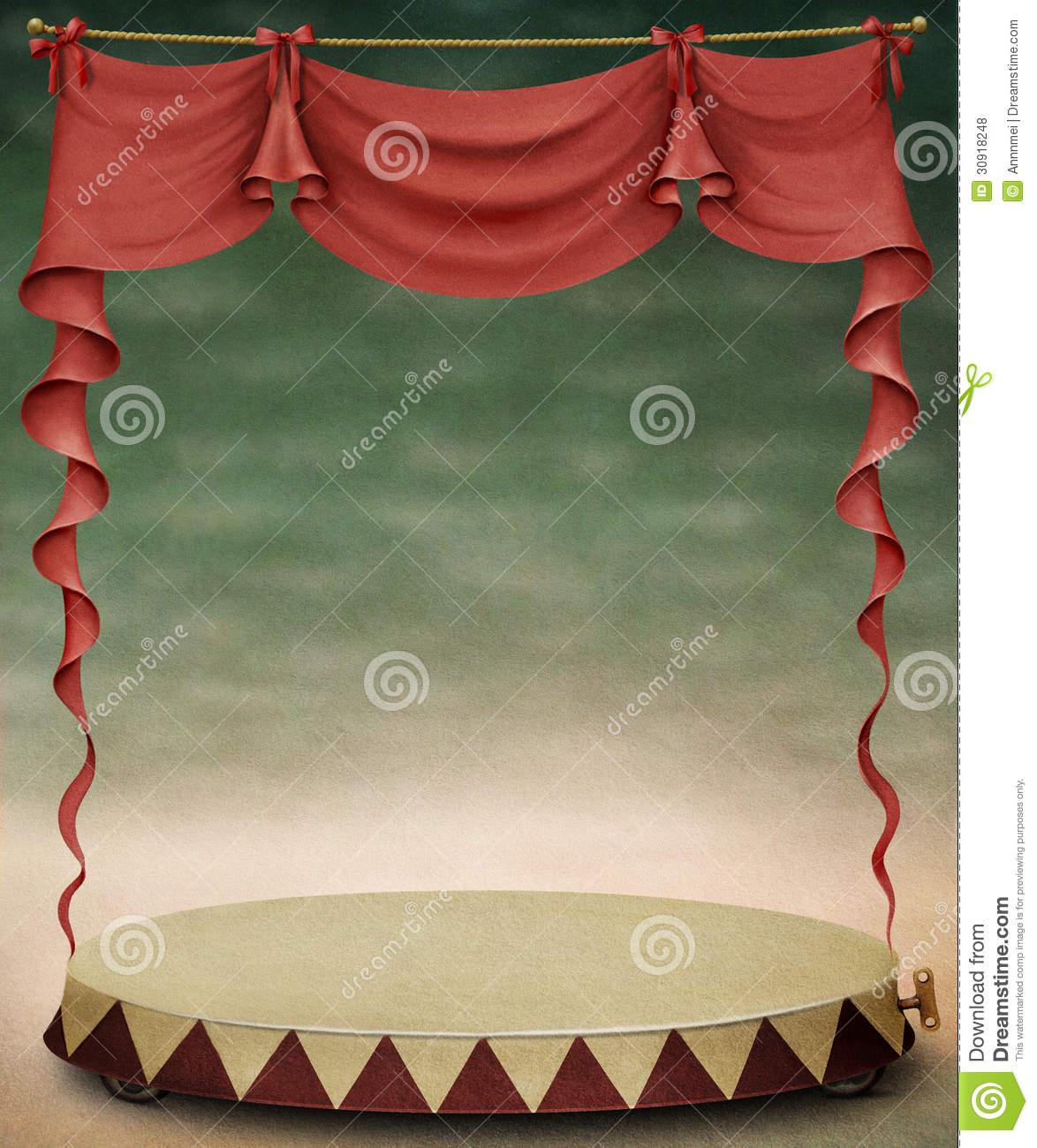 Red Curtain And Stage Stock Illustration Image Of Pastel