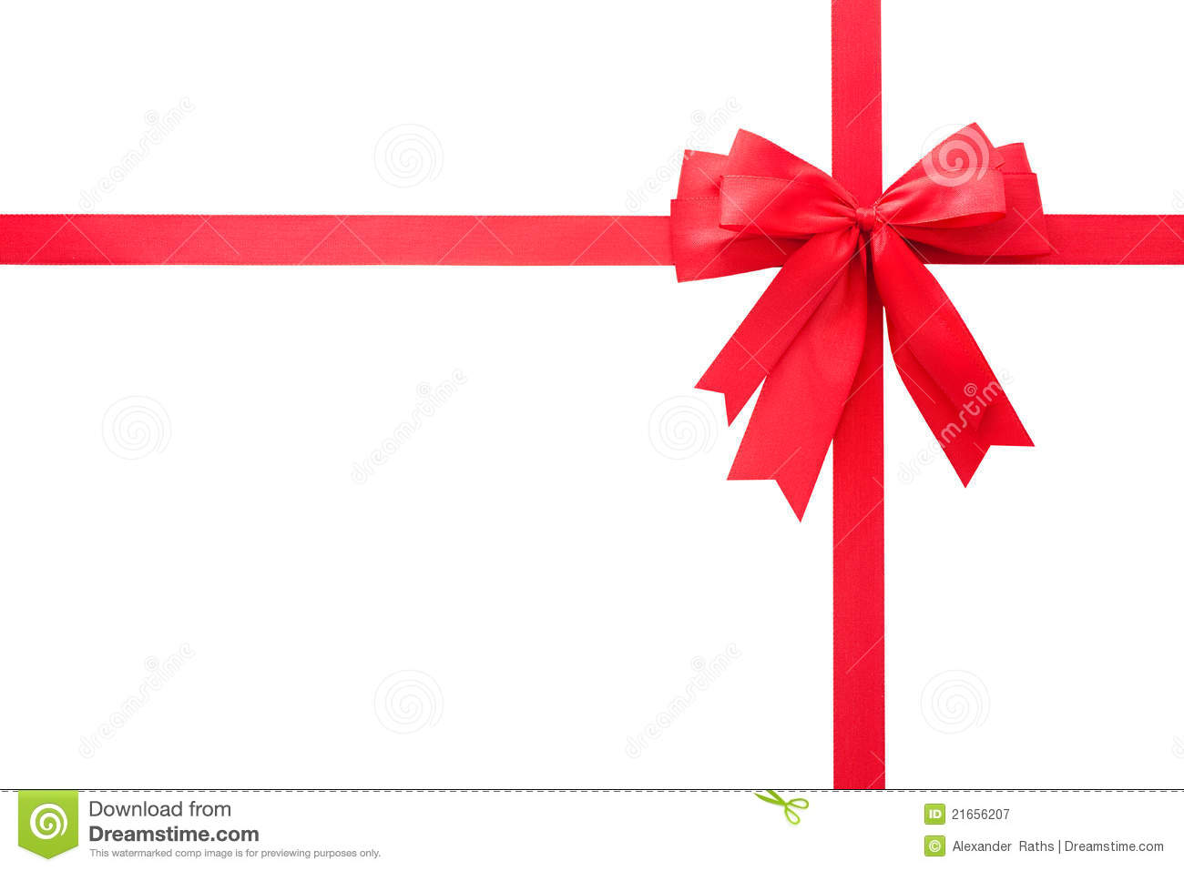 Red Gift Bow Royalty Free Stock Photography Image 21656207