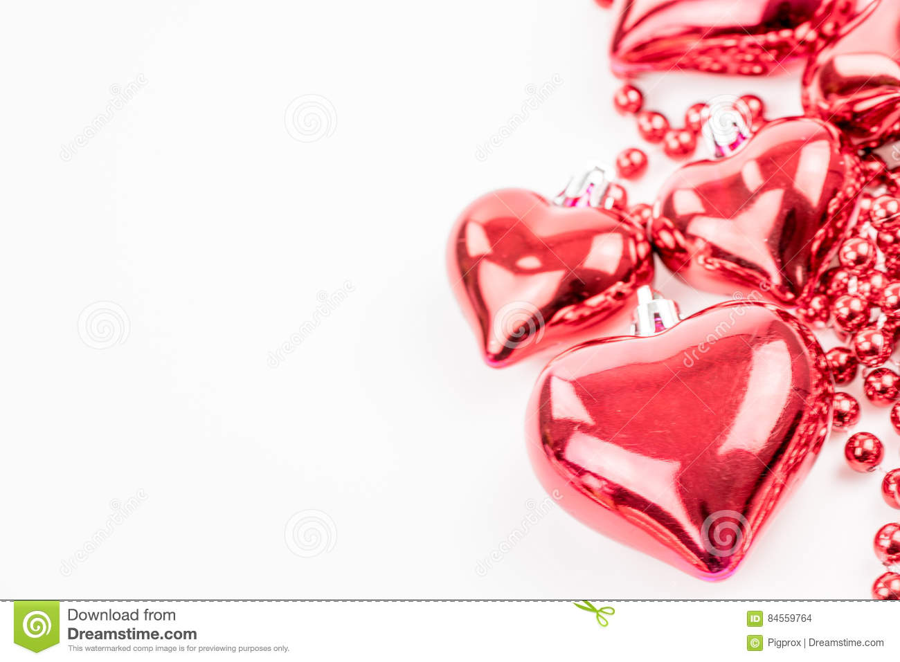 The Red Heart Shapes In Love Concept For Valentines Day