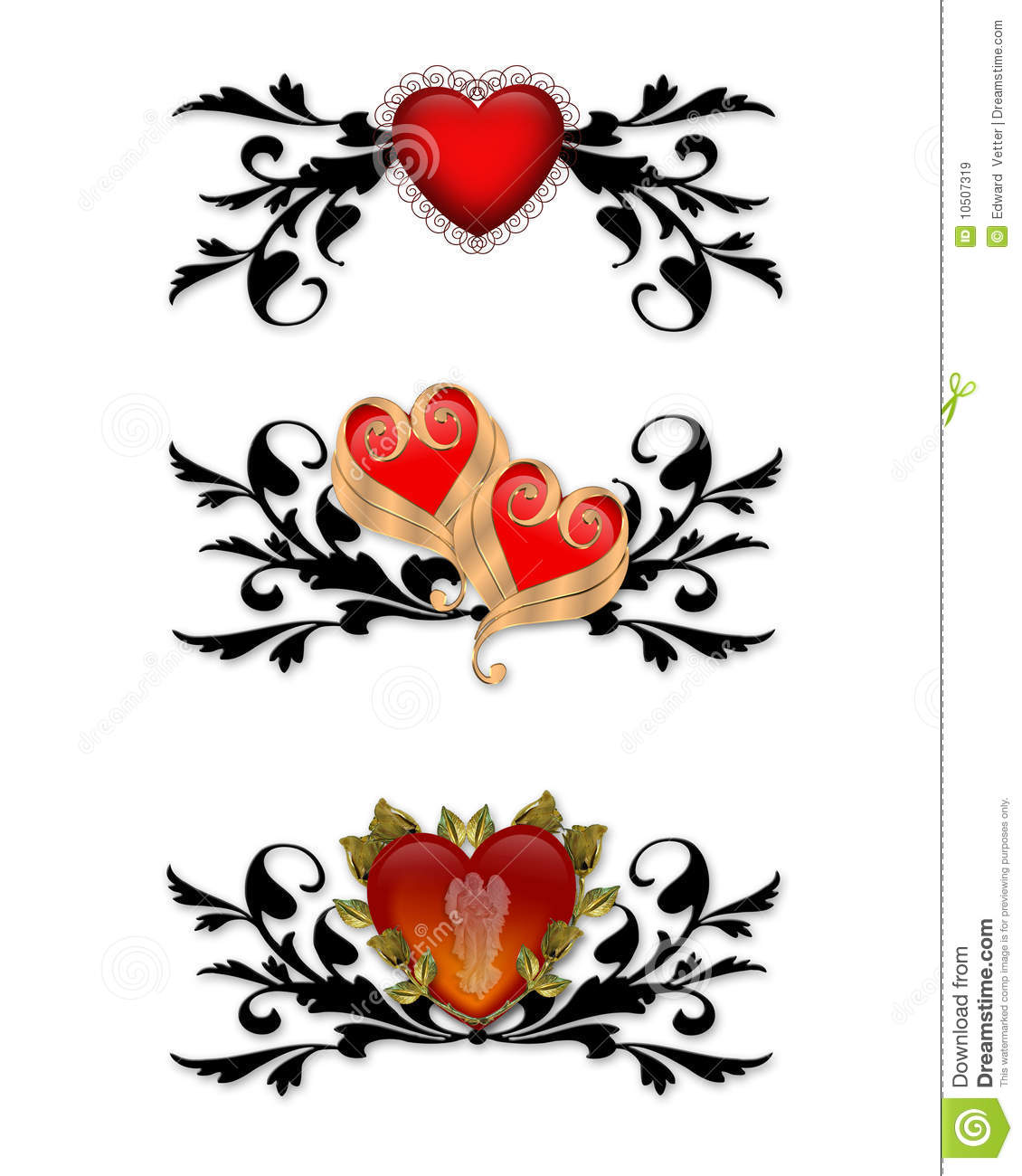 Red Heart Tribal Design Elements Royalty Free Stock Images