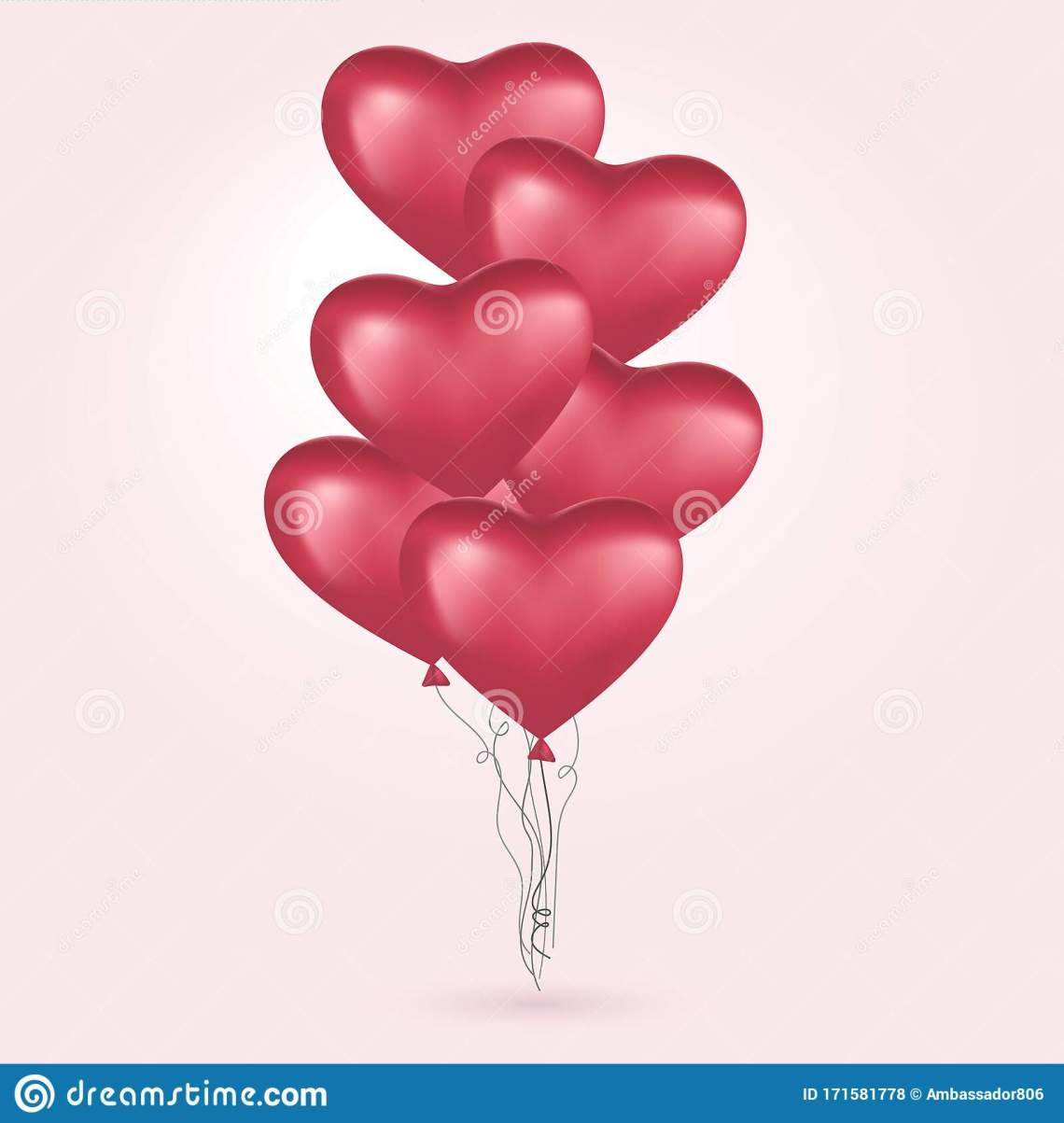 Download Red Hearts, Flying Bunch Of Red Balloons. Happy Valentines ...