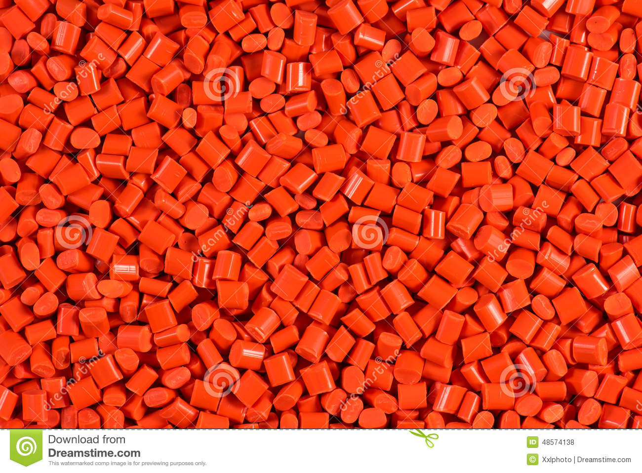Red Plastic Granulate Pellets Stock Photo Image 48574138
