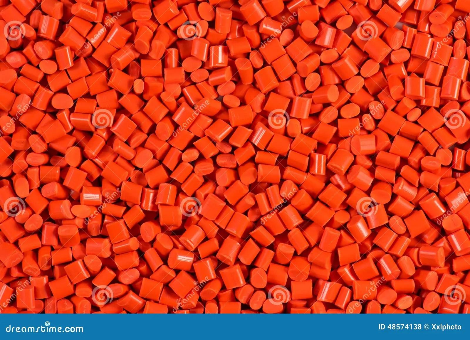 Red Plastic Granulate Pellets Stock Photo Image 48574138