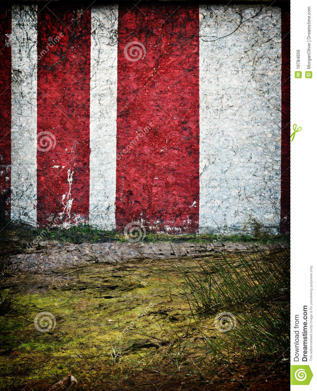 Red And White Circus Tent Background Royalty Free Stock