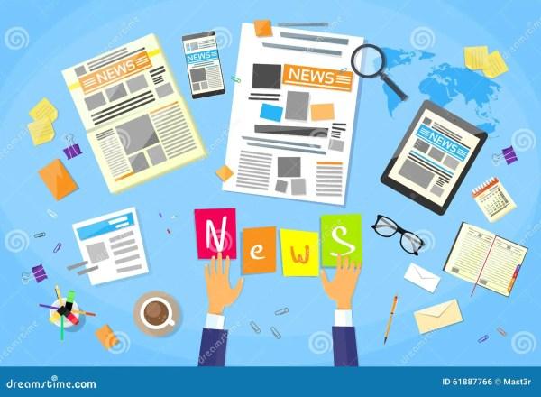Redactor De Noticias Desk Workspace, Fabricación Del ...
