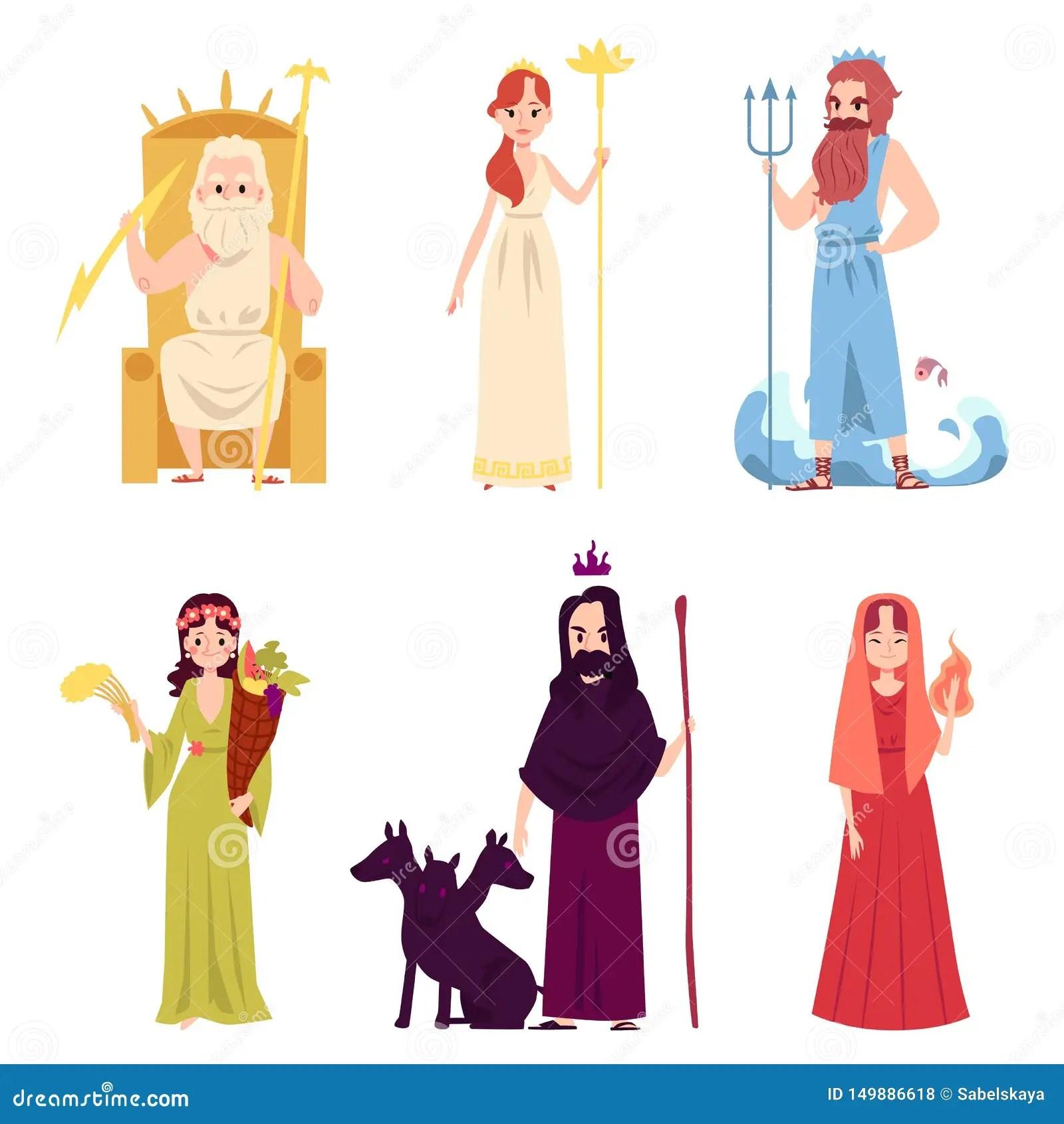 Reeks Van Mannelijke En Vrouwelijke Oude Het Grieks Of Van