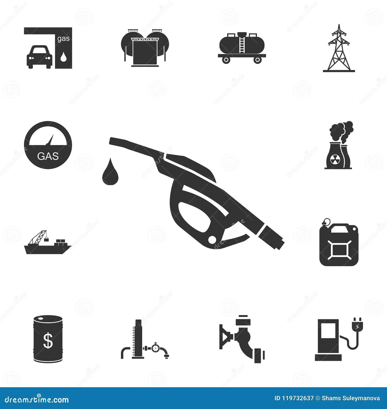 Gun Fuel Service Station Stock Illustration