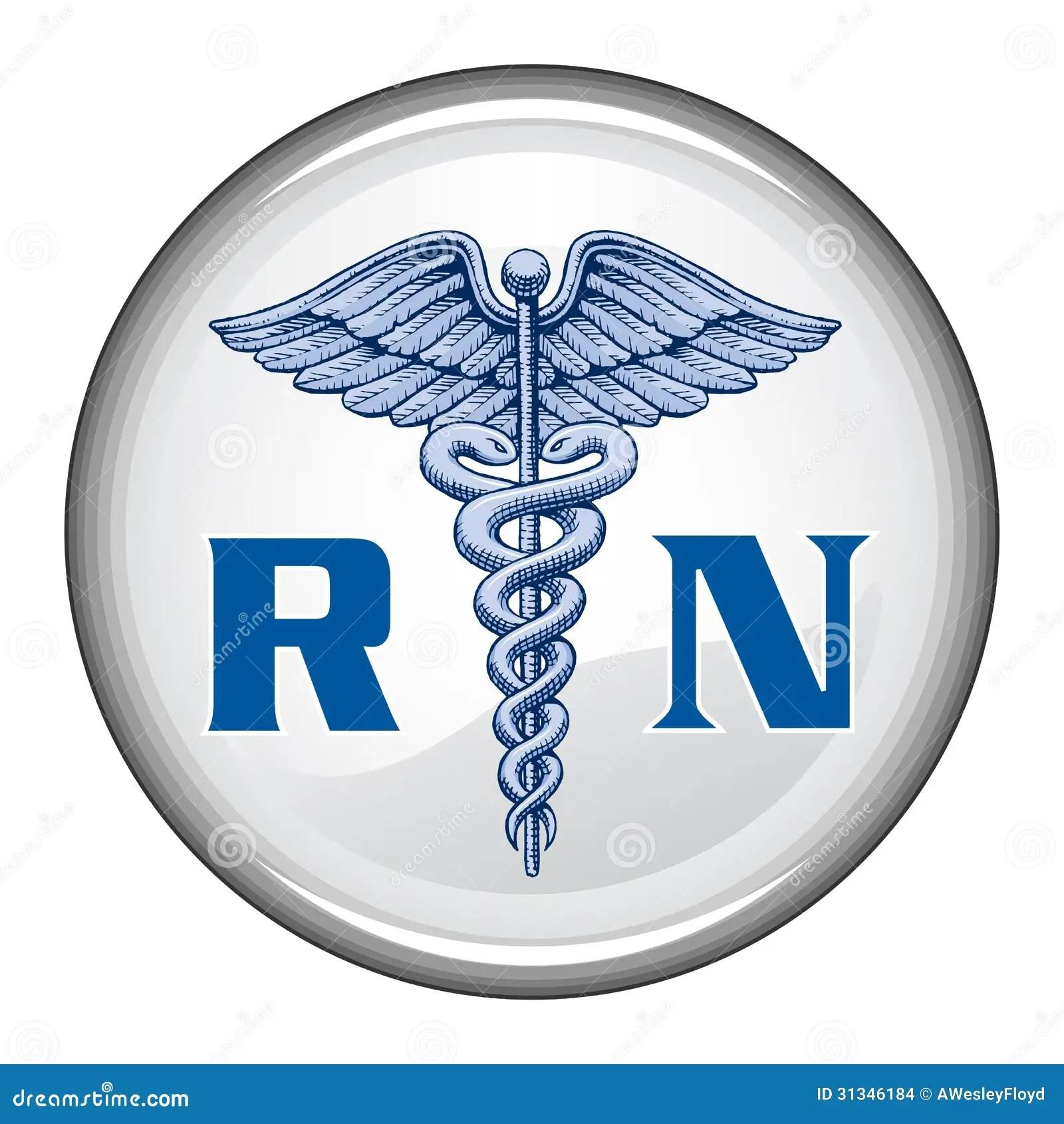 Registered Nurse Button Stock Vector Illustration Of