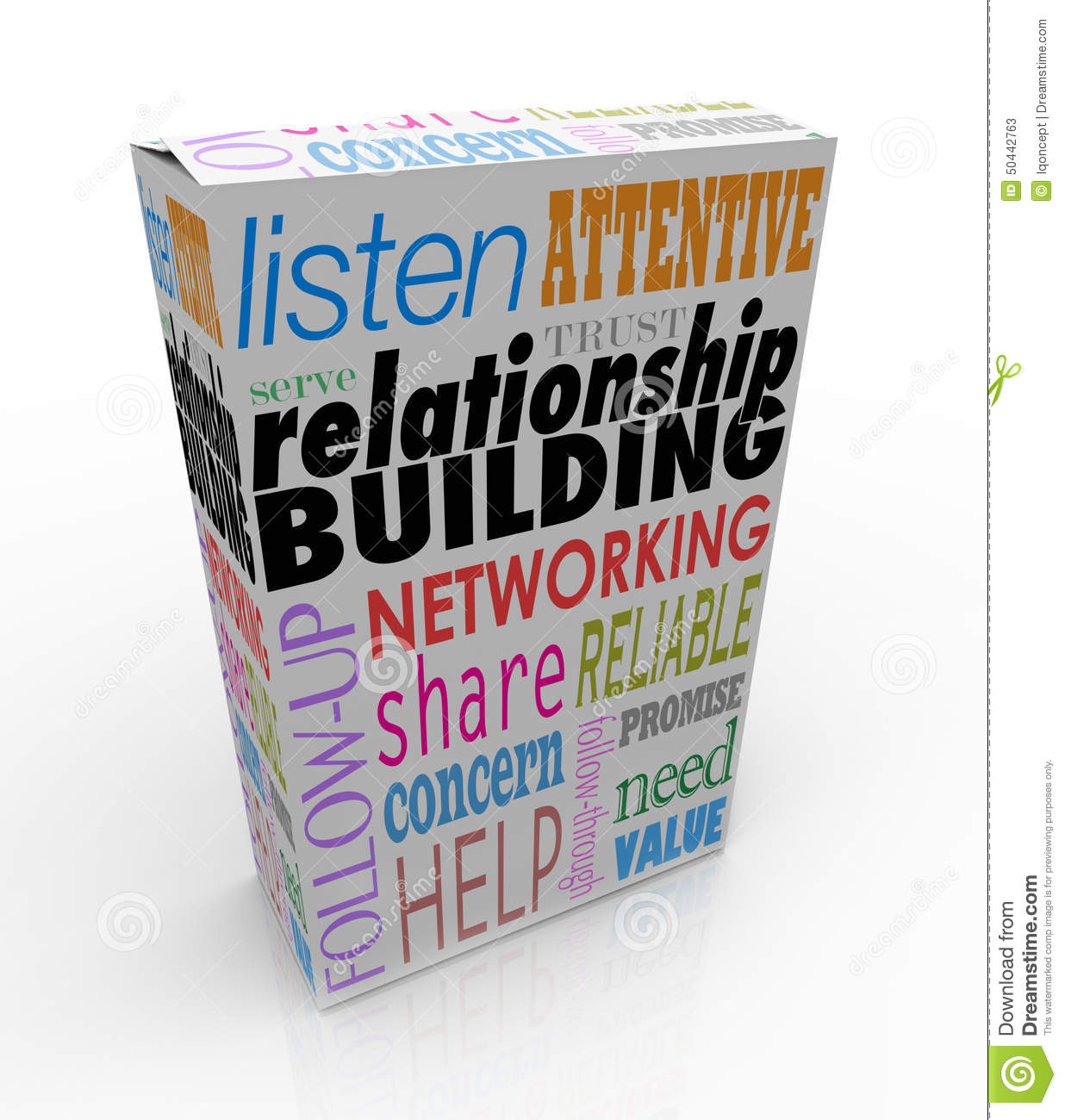 Relationship Building Product Box Advice Networking Grow