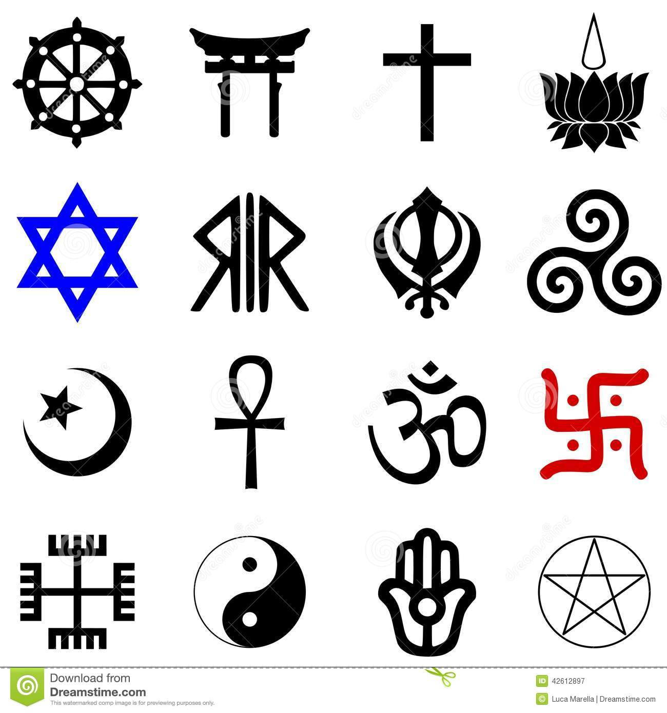 Religions Symbols Vector Stock Vector Illustration Of