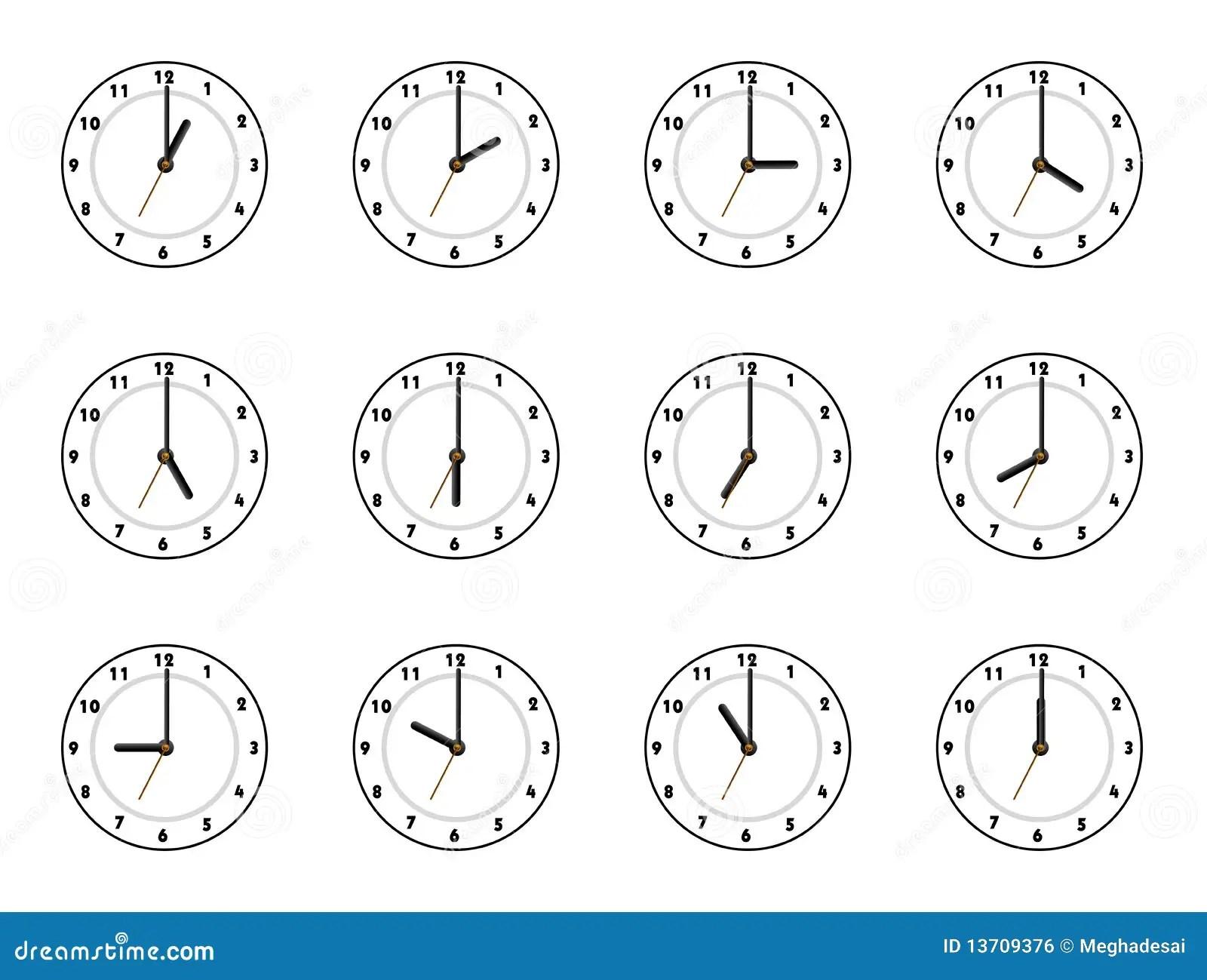 Reloj 12 Stock De Ilustracion Ilustracion De Cinco Reloj