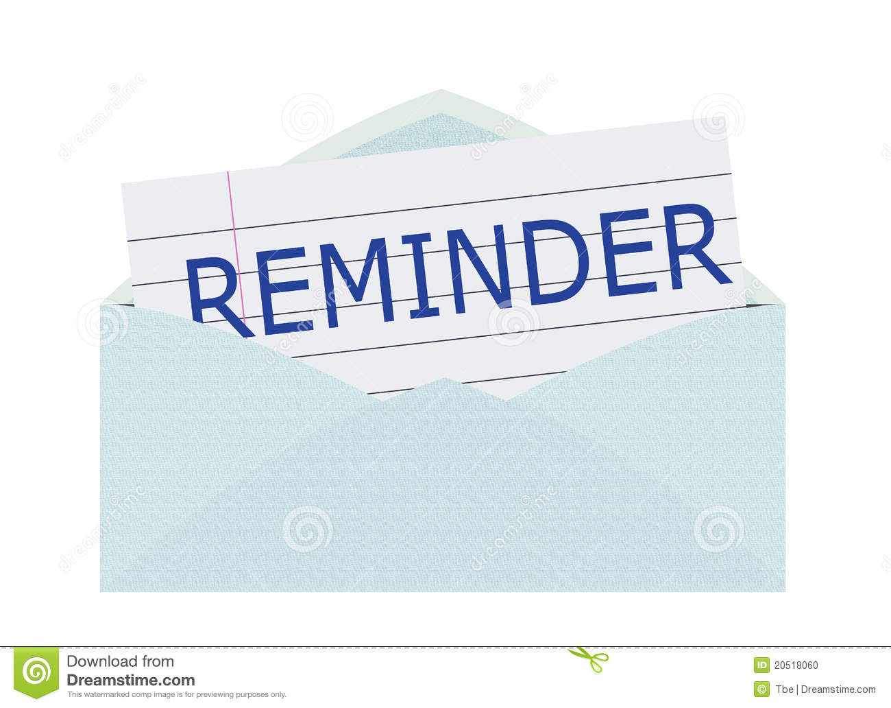 Reminder Letter Stock Illustration Illustration Of Danger