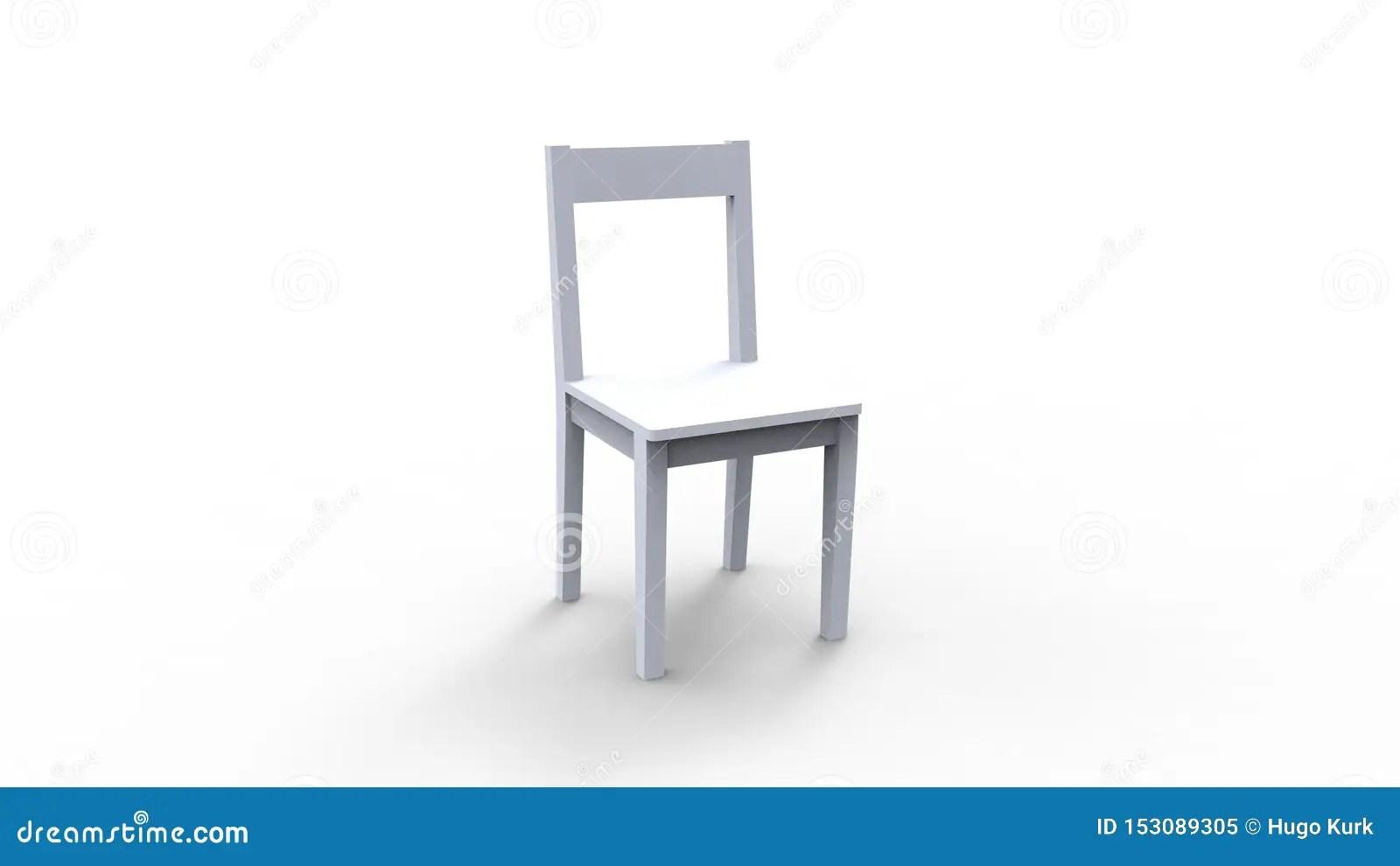 rendu 3d d une chaise en bois d